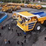 Обзор самосвала БелАЗ 75710 с грузоподъемностью 450 тонн