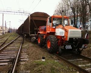 Трактор ХТЗ-150К-09-25 на рельсовых тягачах