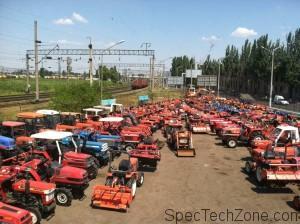 Мини трактора из Японии
