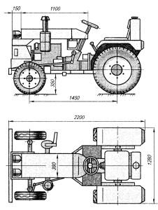 Мини тракторы самодельные чертежи