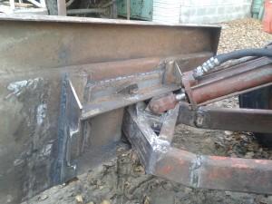 Как сделать лопату на минитрактор