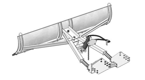 Лопата для минитрактора своими руками