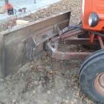 Как сделать самодельную лопату на минитрактор?
