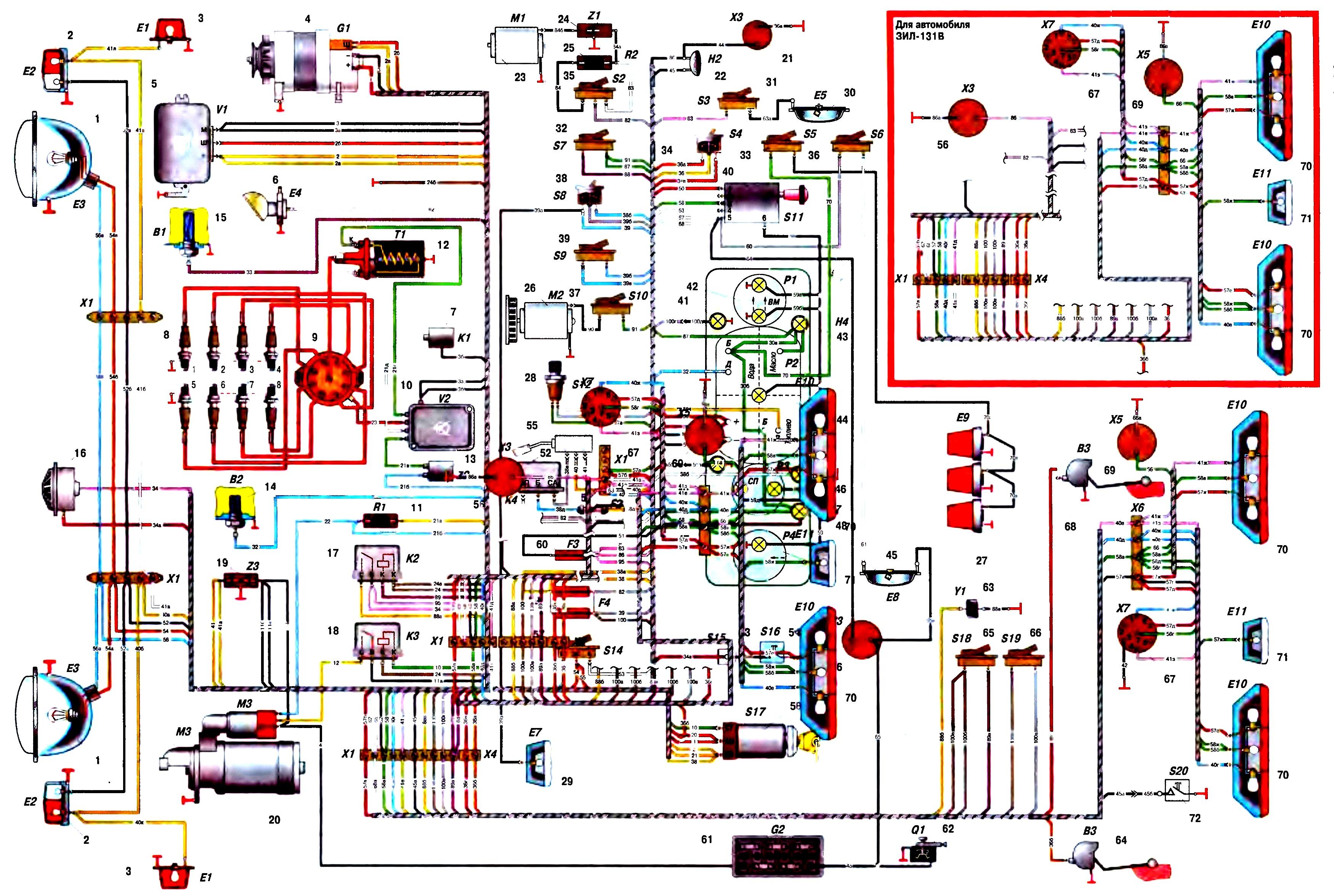 Как читать принципиальные электрические схемы автомобиля
