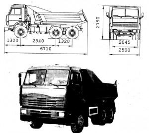 Камаз 55111 технические характеристики
