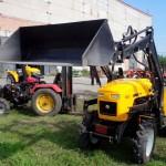 Мини трактор с куном