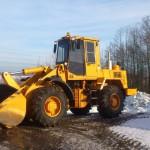 Амкодор 342В в поле зимой