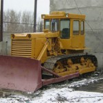 Бульдозер Т 130 зимой