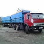 КАМАЗ сельхозник 55102 с прицепом