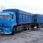 КАМАЗ 65117 с прицепом