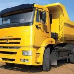 КАМАЗ самоссвал 65115 жолтый