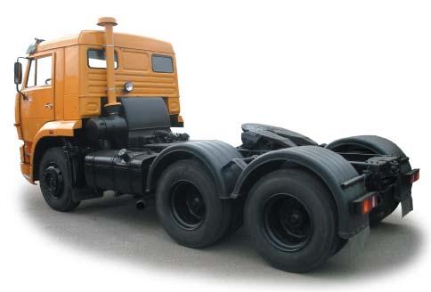 Седельный КАМАЗ тягач 65116 вид сзади