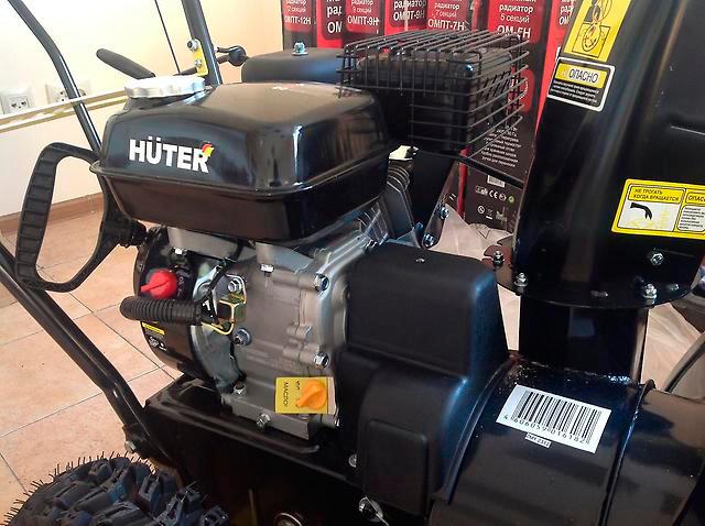 Двигатель снегоуборщика Huter SGC 4100 перед заведением