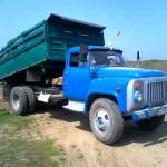 ГАЗ 53 самосвал зеленые борты