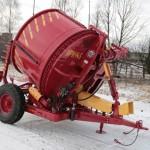 Измельчитель рулонов грубых кормов ИРК-145 красный