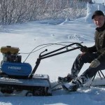 Мини снегоход из мотоблока