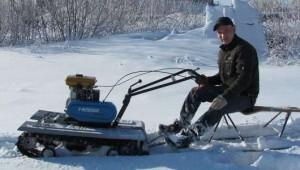 мини снегоход из мотоблока нева