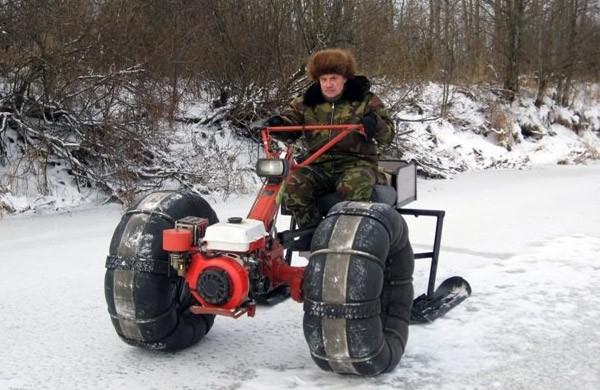 Как сделать снегоход из мотоблока своими руками