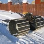 Как сделать снегоход из мотоблока