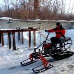 Как соорудить снегоход из мотоблока?