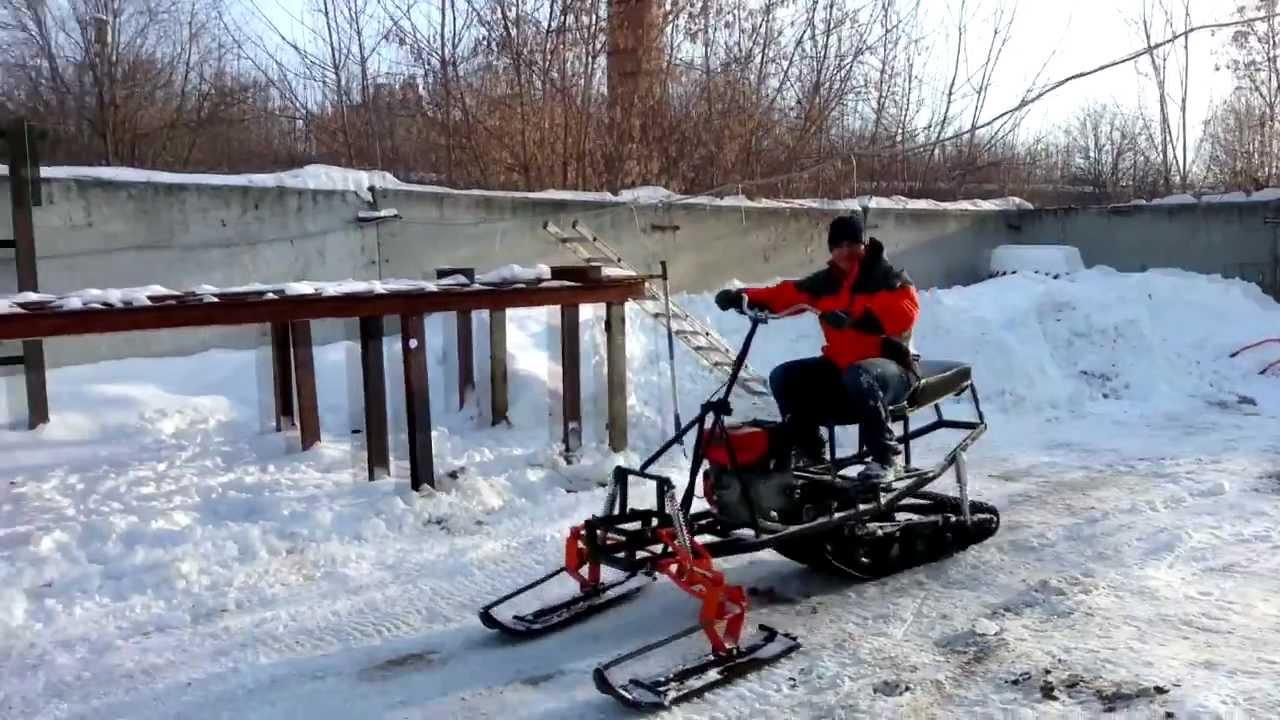 Как своими руками сделать снегоход из мотоблока 534