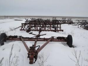 Сцепка СП 16 зимой