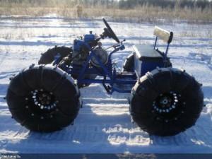 Снегоход с силовой установкой от мотоблока Нева