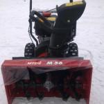 Снегоуборщик MTD M 56 после покупки