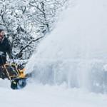 Снегоуборщик Stiga ST 1145 E в работе