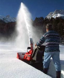 Способы завода снегоуборщика