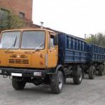 Автомобиль КАЗ-4540 колхида с прицепом