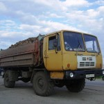 Автомобиль КАЗ-4540 Колхида в работе