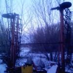 Борона пружинная навесная БПН-10 красная зимой