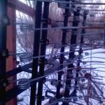 Борона пружинная навесная БПН-10 зимой