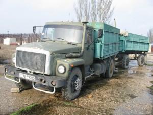 ГАЗ 4301 с прицепом