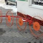 Грабли - ворошилка Солнышко 4 колеса для мотоблоков