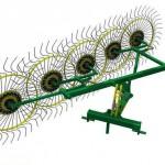 Грабли - ворошилки Солнышко для минитрактора 4-х и 5-ти колесные