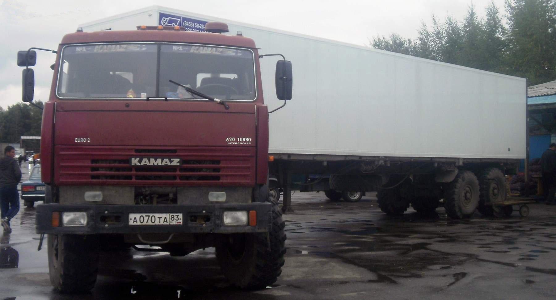 КамАЗ 44108 красный