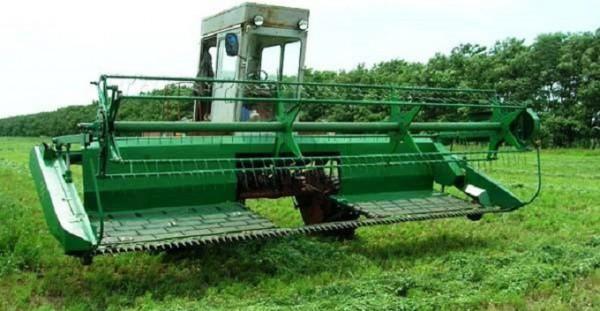 Косилка - плющилка самоходная КПС 5Г зеленая