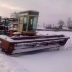 Косилка - плющилка самоходная КПС 5Г зимой