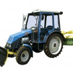 Трактор ХТЗ-3512 с прицепными агрегатами