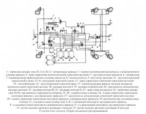 Схема пневматического привода тормозных механизмов автомобилей КамАЗ-43118