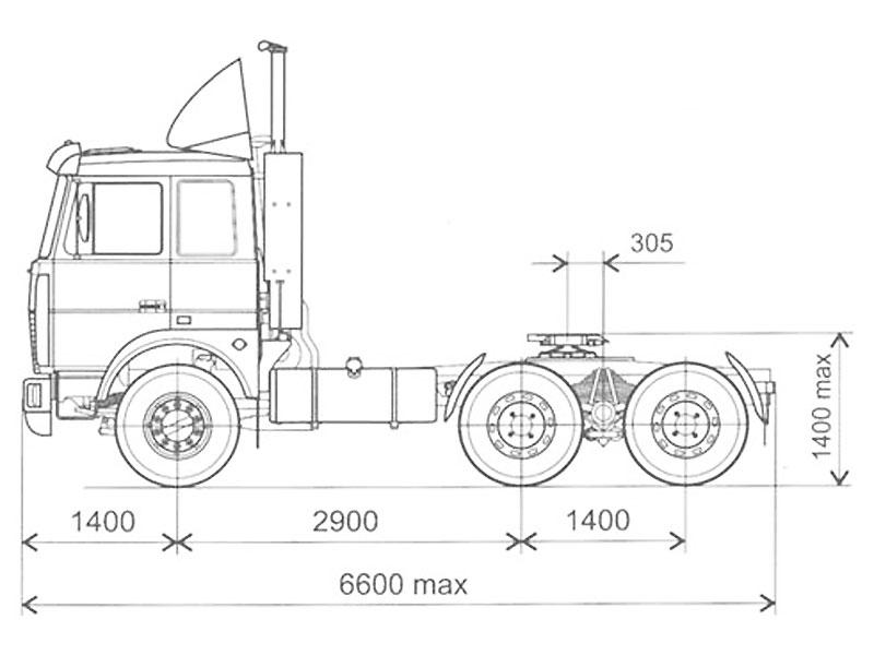 Схема МАЗа тягача 6422А5-320