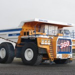БелАЗ-75601 в движении