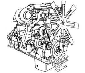 Двигатель БелАЗ 7555