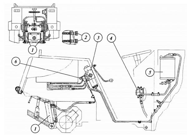 Схема электропроводки трактора мтз 892