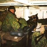 МТЛБ солдаты внутри броневика