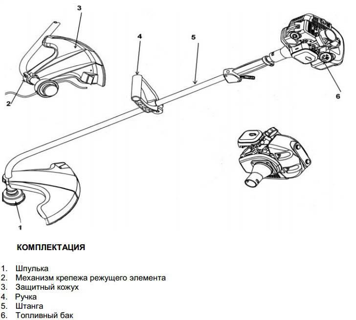 Триммер бензиновый схема устройства