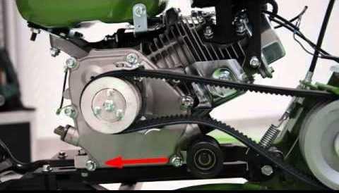 Шкив и ременное сцепление мотокультиватора