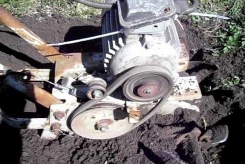 Электродвигатель от промышленной стиральной машины на самодельном культиваторе